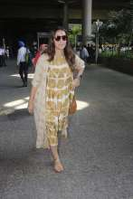 Actress Neha Dhupia spotted in Indigene at the Airport