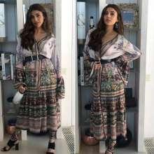 Gorgeous Actress Kajal Aggarwal wearing a designer Rajdeep Ranawat's outfit!