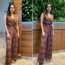 Beautiful Dia Mirza Spotted in Kazo Outfit at Airport