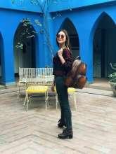 Beautiful TV Actress Krystle Dsouza inTravelmood with Kompanero Backpack.