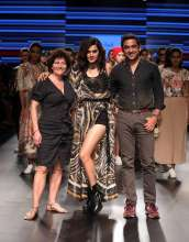 Sylvie, Taapsee Pannu and Amrish at Lakme Fashion Week Summer Resort 2018