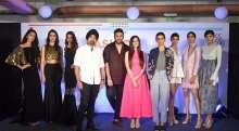 Panel Members Jaspreet Chandok, Nikhil Thampi, Nishka Lulla and Ekta Rajani with models at Fashion Talks by Lakmé Fashion Week at WeWork BKC
