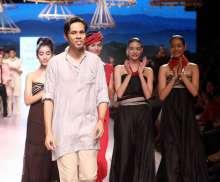 Aratrik Dev Varman presenting his collection at Lakme Fashion Week SUmmer Resort 2018