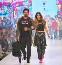 VJ Rannvijay Singh & Youth Icon Ananya Birla Walked the Ramp for Priority Bags X Disrupt India at Bombay Times Fashion Week