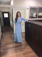 Actress Sana Khan wearing Rinku Sobti for Movie Promotion of Wajah Tum Ho