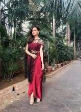 Ravishing Sana Khan wearing earrings and ring from Jewellery Designer Shillpa Purii for an event