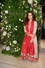 B-Town ladies Soha Ali Khan and Dia Mirza graced the store launch and unveiled the firstlook of the New Homegrown apparel label, Saundh in Mumbai