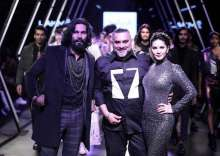 Raza Baig with Randeep Hooda and Sunny Leone at the Splash Between Worlds Autumn Winter '17 at Lakme Fashion Week Winter Festive 2017