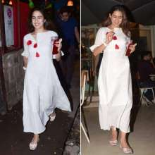 Sara Ali Khan spotted in a white dress by Spring Diaries