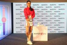 Aditi Rao Hydari, Brand friend- Swatch at the launch of Swatch's new SwatchxYou collection in Mumbai