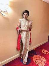 Actress Taapsee Pannu wearing a Rashi Kapoor Saree for American Asian Heritage Festival in New Jersey.
