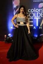Actress Tanishaa Mukerji wearing Leena & Aashkara at Golden Petal Awards