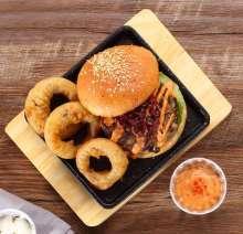 THE SHROOM MELT Burger at The Irish House