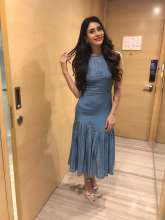 Warina Hussain wearing Nikita Mhaisalkar for her  Movie Promotion